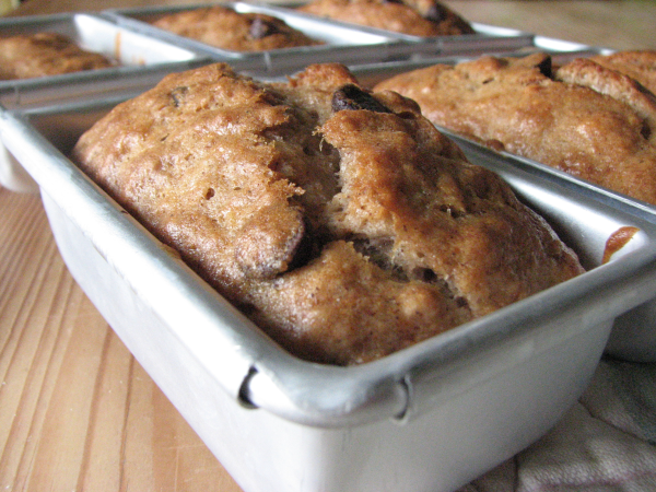 Chocolate Chip Banana Bread in Pan