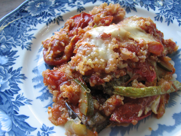 Ratatouille Quinoa Bake on Plate