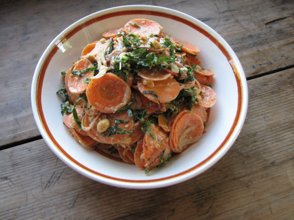 Carrot Kale Salad in Bowl