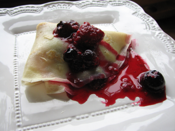 Crepe with Berry Sauce