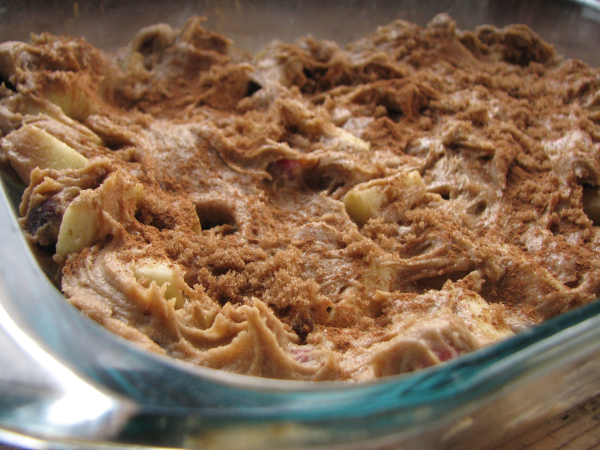 Apple Cranberry Bar Batter