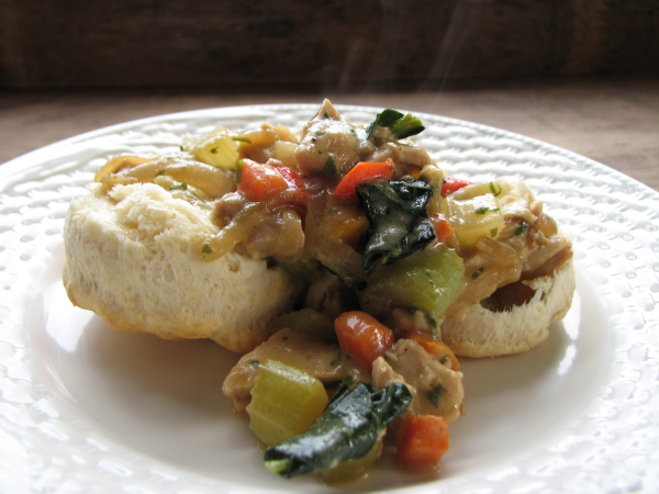 Baking Powder Biscuits with Chicken and Vegetables