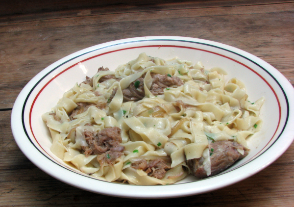 Fresh Fettucini with Beer Braised Pork