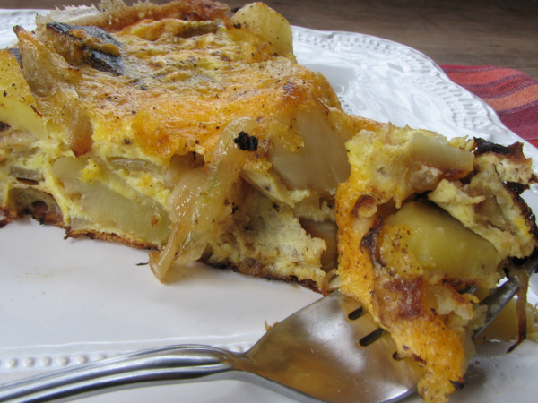 Potato Onion Cheese Frittata