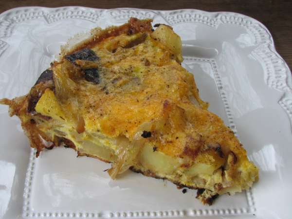 Potato, Onion, and Cheese Frittata