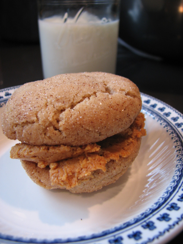 Snickerdoodle Peanut Butter Sandwiches