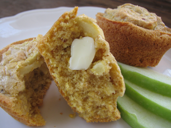 Apple Oat Corn Muffins