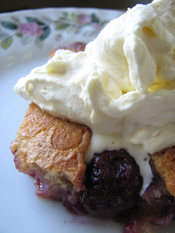 Cherry Cobbler with Fresh Whipped Cream